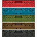 ボックスシール プラスティックボックス アソートセットM RE・BL・GR・BR・BK 5枚セット