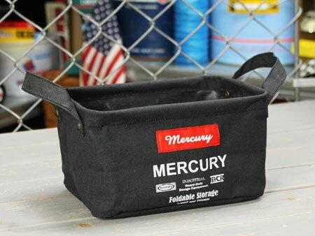 MERCURYマーキュリー  キャンバス レクタングルボックス ブラック S MECARBSB
