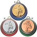ASACO(アサコ)SMカラーメダル 少年サッカー SM7508-B 直径40mm【Medals】