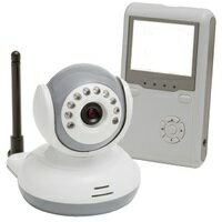 トリビュート 『双方向音声』&『ボイスオン』機能搭載ワイヤレスベビーカメラ 2way ベビーモニター White&gry Bm-c2501