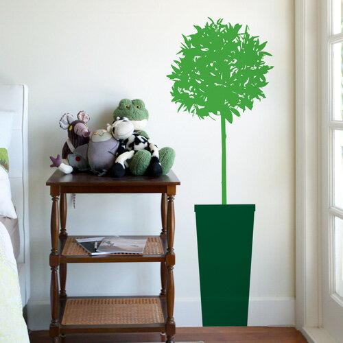 BLIK ウォールステッカー シトラスの木 サワーアップル/ダークグリーン BL-MJ-Citrus