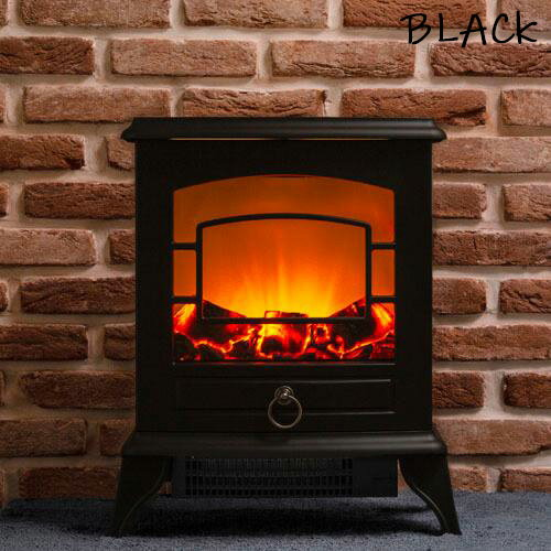 威風堂 暖炉型ファンヒーター IFD-049 ブラック