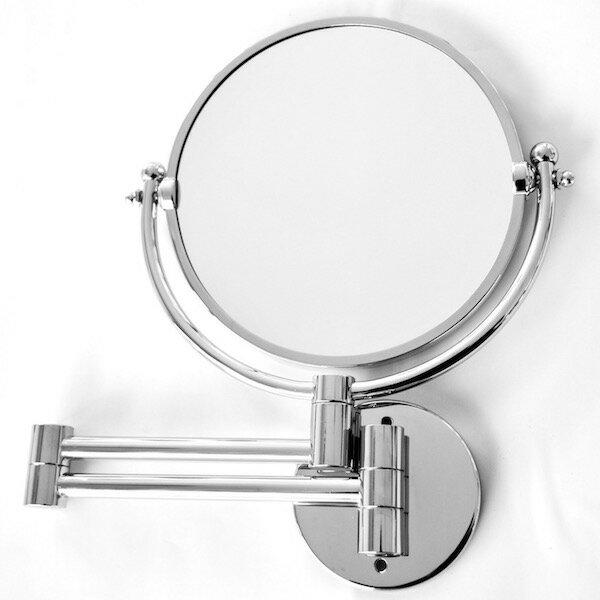 3倍拡大鏡 折りたたみミラー クロームシルバー