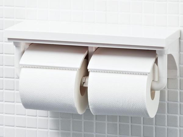 LIXIL リクシル INAX 棚付2連紙巻器 オフホワイト CF-AA64/BN8