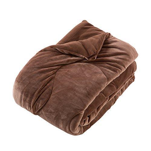 mofua うっとりなめらかパフ ふわ毛布/セミダブル160×200cm