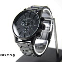 NIXON 腕時計 THE SENTRY CHRONO ALL BLACKセントリー クロノ オールブラック  NXS-NA386001-00 メンズ