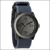 NIXON 腕時計 NA0491894-00 メンズ Private プライベート Gunmetal/Navy Frayed ガンメタル/ネイビーフレイド
