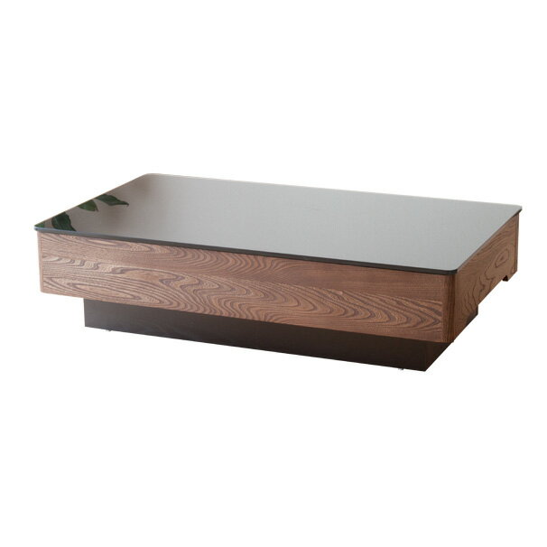 収納付き  ガラステーブル / Arly-elm1200(長方形タイプ)