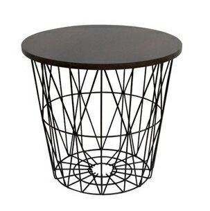 ironet バスケットテーブル S サイドテーブル 収納