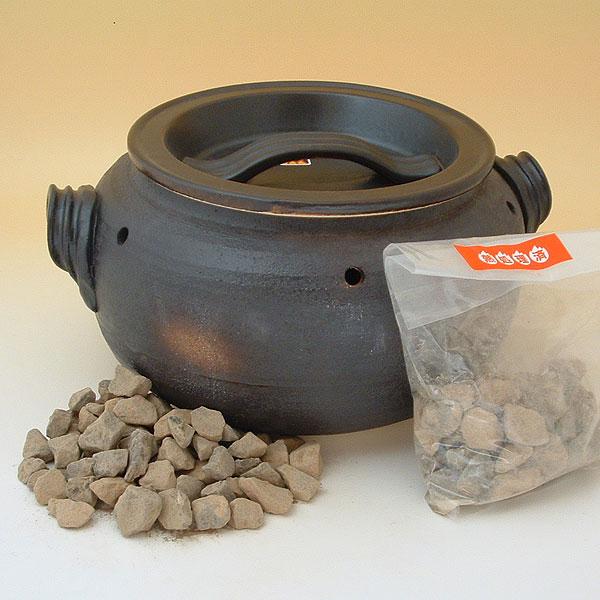 石焼き芋鍋 いも太郎 天然石 付の写真