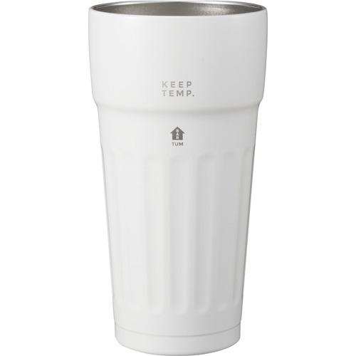 ユーシーエー 保冷ビアタンブラー TUM ホワイト(1個)の写真
