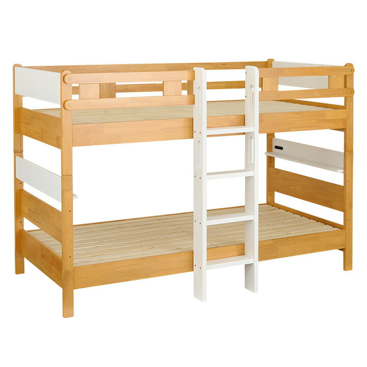長く使える3Way仕様/耐荷重900kg/JISSG規格適合設計宮付き 二段ベッド