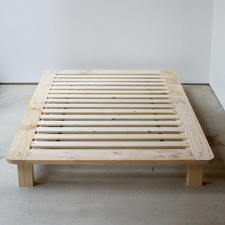 三吉 木製ベッドフレーム セミダブルMTS-098の写真