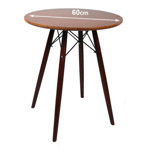 リプロダクトイームズテーブル MDFラウンドテーブル GT-725-1 ブラック/ホワイト