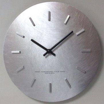 フォーカス・スリー シュールな時計 ステップ シルバー V-0008の写真