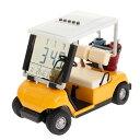 ホクシン交易 HTC ゴルフカートクロックイエロー W11GC005