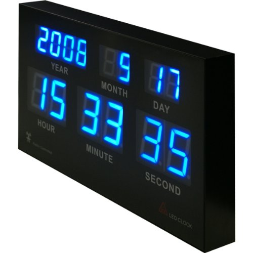 電波時計 7セグ LED クロックの写真