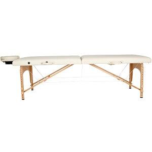 折りたたみマッサージベッド 木製有孔 バニラ 長さ 幅 高さ51-