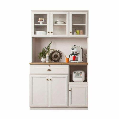 ユーアイ NEO 食器棚105 K-105HOP WH ホワイトの写真