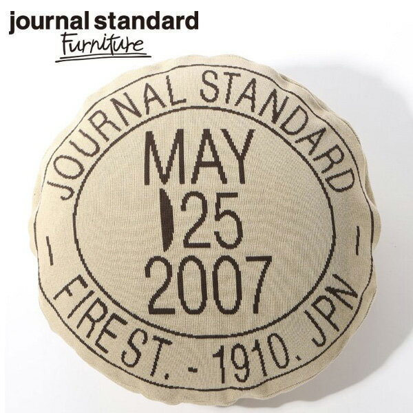 journal standard Furniture KNITCHY×JSF STAMP LOGO CUSHION COVER BEIGE
