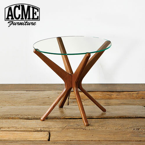 acme furniture trestles side table   clear