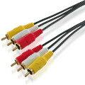 ハイパーツールズ 3M ビデオケーブル オス-オス 赤 白 黄 3RCA-MM-3M