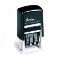 Shiny Mini Dater インク内蔵日付スタンプ印面約22mm×4mm /長方形/日付印1行 4連タイプ M39M