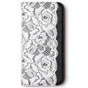 iPhone6s/iPhone6 4.7インチ ケース Lace Diary ブラック ブラック グッズ