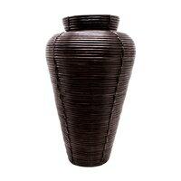 ぐるぐるラタンの大きな壷(コイルベース)(6301)