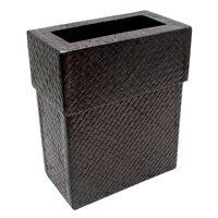 パンダンで編まれたインナー付きの四角いごみ箱(11560)