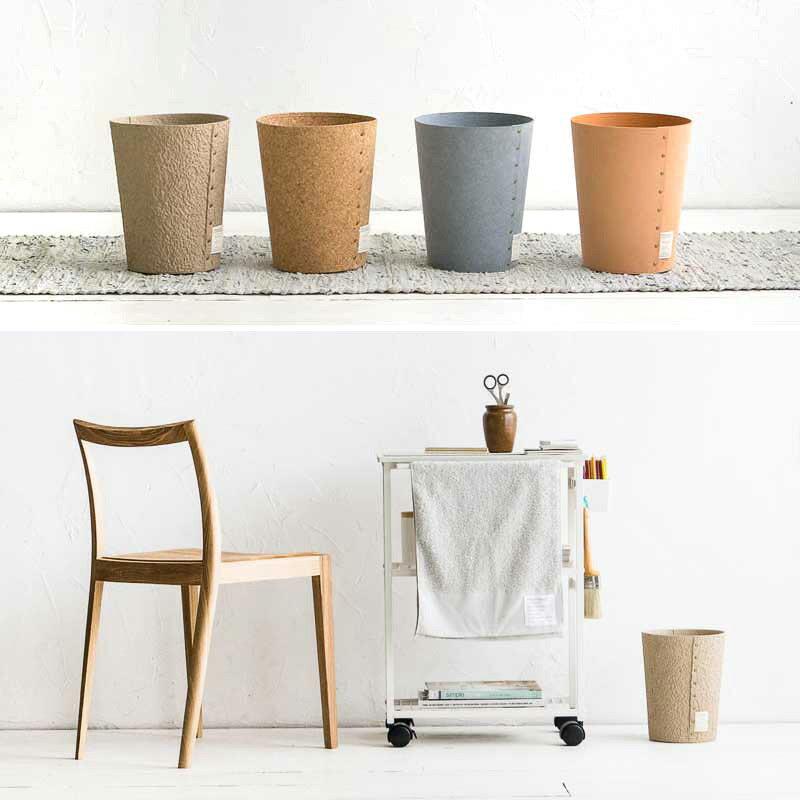 リサイクルビン リサイクルレザー テラコッタ sarasa designの写真