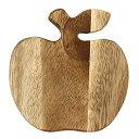 コースター アカシア りんご 木製 ダイカット 45072652画像