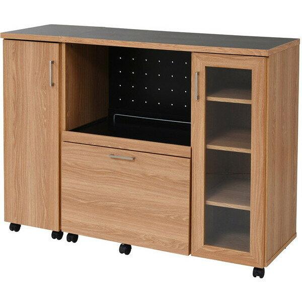 ワイドキッチンカウンター 食器収納 幅120cm