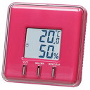 SMARTEK(スマーテック) デジタル温湿度計 置き掛け兼用 温度表示 湿度表示 ピンクMH-232-ZPK
