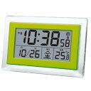 SMARTEK(スマーテック) 電波デジタル置き時計 温度表示付き グリーンML-466-GR