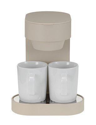 プラマイゼロ コーヒーメーカー2カップ コーヒーメーカー XKC-V110(C)