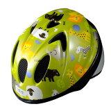 徳島双輪 自転車用キッズヘルメット TETE スプラッシュハート アニマル グラスグリーン XSサイズ