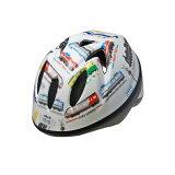 徳島双輪 自転車用キッズヘルメット TETE スプラッシュハート トレインホワイト Sサイズ