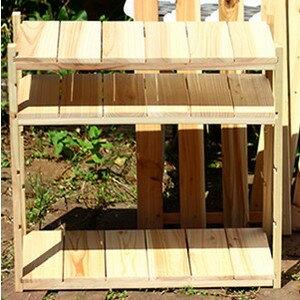 ナチュラルウッドシリーズ 木製組み立てラック 幅51cm×奥行24cm×高さ3.5cmの写真
