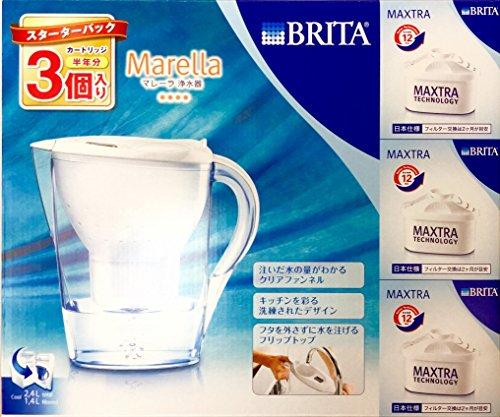 【カートリッジ3個入り(半年分)】 ポット型浄水器 Brita(ブリタ) マレーラ Cool スターターパック