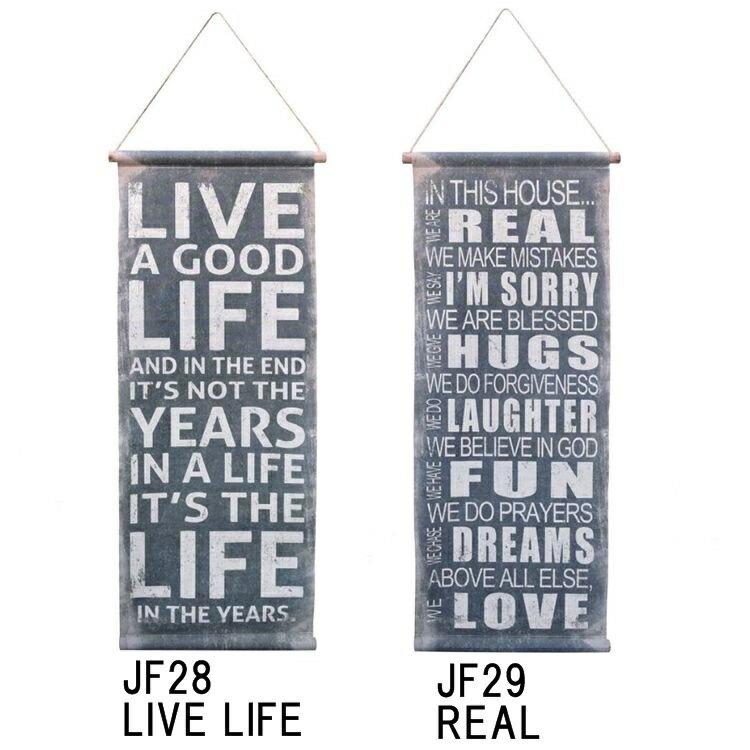 ヴィンテージサインタペストリー04 LIVE LIFE(JF28)05 REAL( JF29)