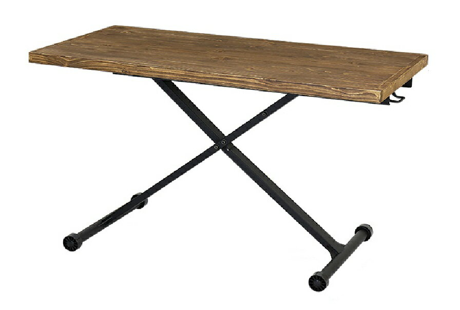 天然木 パイン無垢材 リフティングテーブル ブレス 120×60cmの写真