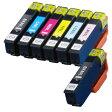 エプソン IC6CL80L + IC80L-BK / IC80Lシリーズ 6色 + 黒 増量版 (互換インクカートリッジ) IC6CL80 / IC80 シリーズの増量版