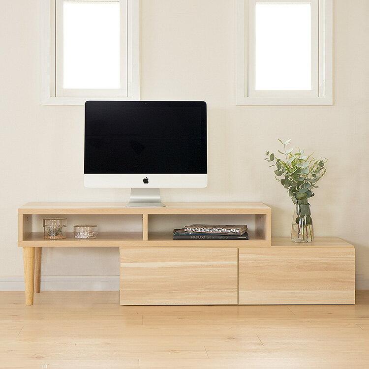 エンケル enkel 伸縮タイプ テレビボード木製の写真