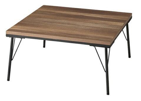 こたつ テーブル おしゃれ 古材風アイアンこたつテーブル 〔ブルックスクエア〕 80x80