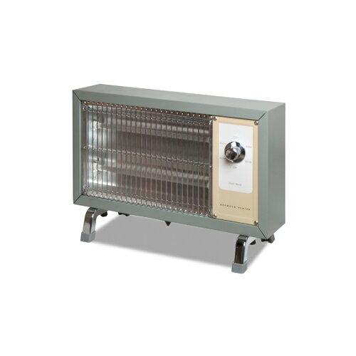 レトロストーブ 電気 おしゃれ 暖房器具ハモサ レトロ ヒーター サックスグレーHermosa RETRO HEATER RH-003Gの写真