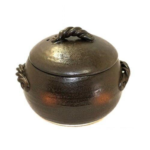 萬古焼 三鈴窯 ごはん土鍋三合炊 径約18cm 高さ15cmの写真