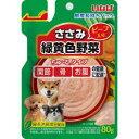 いなば食品 犬用ちゅ~る ささみと緑黄色野菜ちゅ~るビーフ入り 80g QDR-95