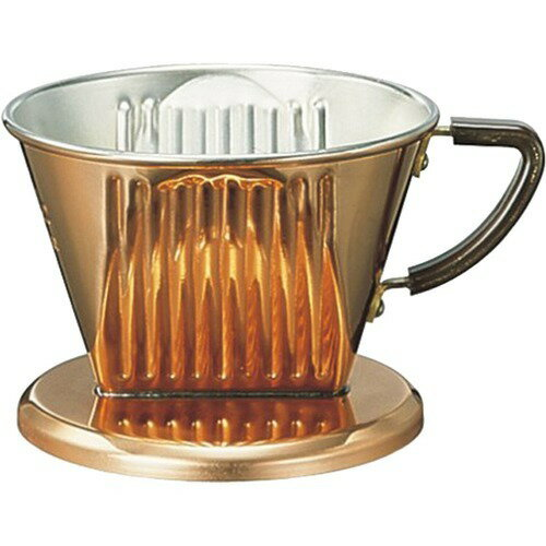 カリタ 銅製 コーヒードリッパー 102-CU 2-4人用(1コ入)の写真