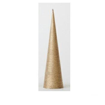 カメヤマキャンドル ネオブラッシュコーン180 ゴールド(1コ入)の写真